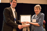 Ernest R. Behringer receiving Homer L. Dodge Citation for Distinguished Service to AAPT