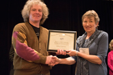 Richard Gelderman receiving Homer L. Dodge Citation for Distinguished Service to AAPT