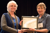 Sharon Kirby receiving Homer L. Dodge Citation for Distinguished Service to AAPT