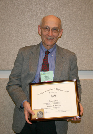 Charles Holbrow, 2012 Oersted Medal Recipient