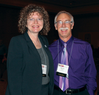President Gay Stewart turned her position over to AAPT's new president, Steve Iona.
