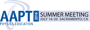 AAPT Summer Meeting 2016 in Sacramento, California