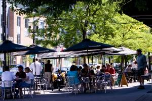 Dining near the waterfront of Portland, OR