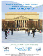 Exhibitor's Prospectus - 2010 APS/AAPT Joint Meeting (Cover)