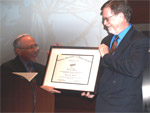 George F. Smoot receives the 2009 Oersted Medal
