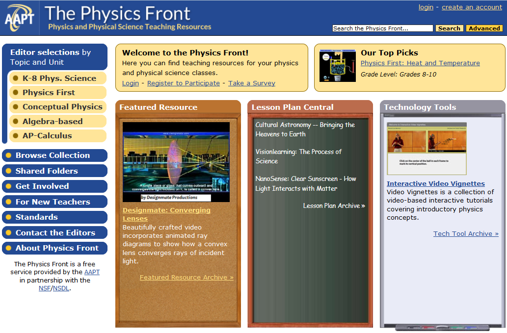 The Physics Front