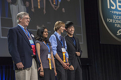 2012 ISEF Special Organization Award Winners with judge, Don Franklin.  Photo courtesy ISEF.