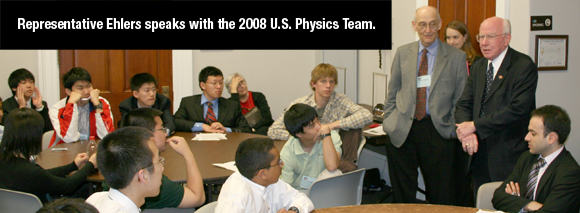 Ehlers talks to Physics Team