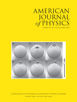 December 2019 American Journal of Physics