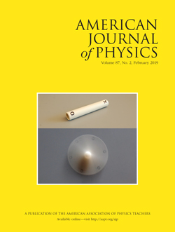 February 2019 issue of American Journal of Phyics