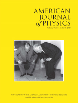 American Journal of Physics March 2020