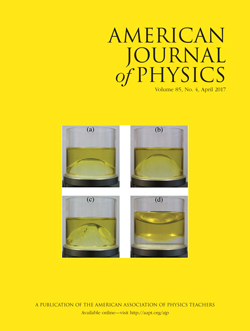 American Journal of Physics, April 2017 issue