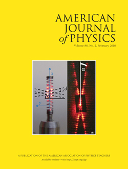 February 2018 issue of American Journal of Physics