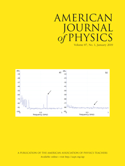 January 2019 issue of American Journal of Physics