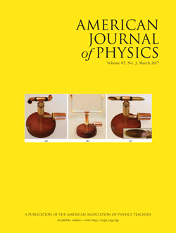 March 2017 issue of American Journal of Physics