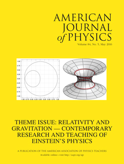 American Journal of Physics, May 2016