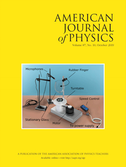 American Journal of Physics October 2019