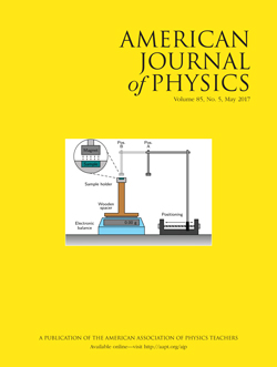 May 2017 issue of American Journal of Physics