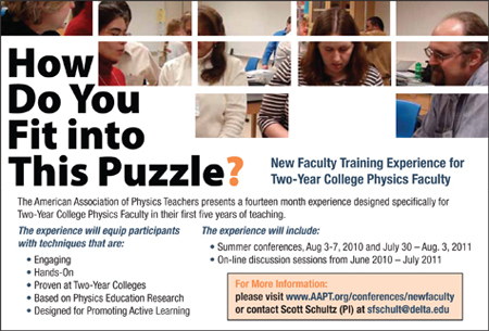 New Faculty Training Experience for two-year college physics faculty