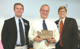 Tom Haff receives award