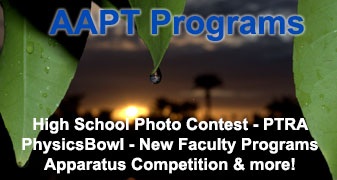 AAPT Physics Programs High School Photo Contest